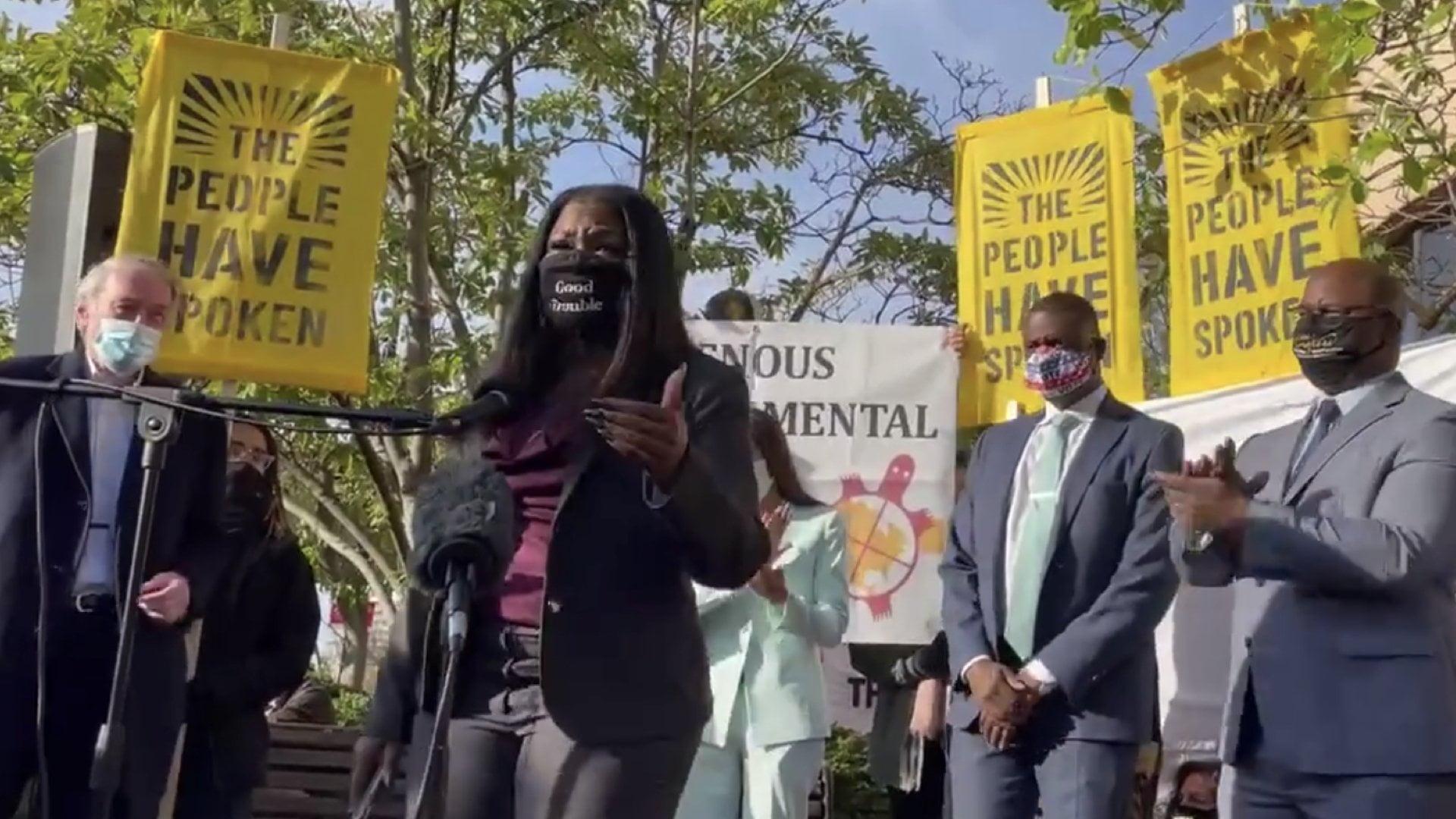 Cori Bush Demo 1605886734 - Progressives Demand Biden Go Big for Green New Deal