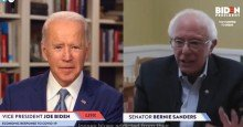 biden sanders 1604504433 - Biden Campaign Condemns Trump False Victory Claim as 'Naked Effort to Take Away the Democratic Rights of American Citizens'