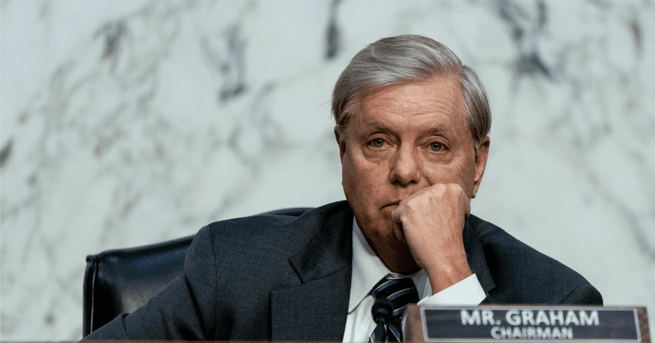 """lindsey graham 0 0 1605627845 - """"I'd Like to Report Some Voter Fraud"""": Lindsey Graham Under Fire for Allegations He Urged Legal Ballots Be Tossed in Georgia"""