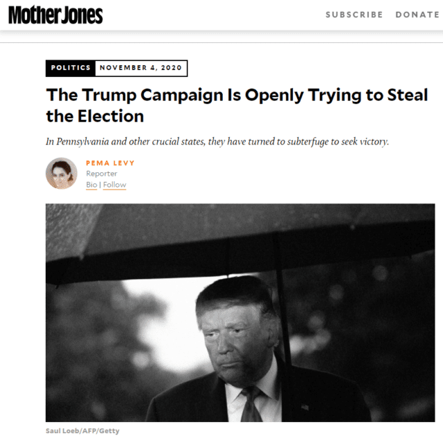 mojo trump steal 640x633 1604763978 - Media Still Refuse to Report the Real News: Trump Is Actively Trying to Steal the Election