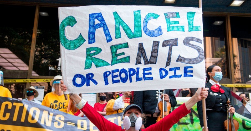 cancel rent 1608997219 - 'Holidays Can't Be Jolly If Your Family Is Not Safely Housed': Progressives Urge CDC to Extend Eviction Moratorium