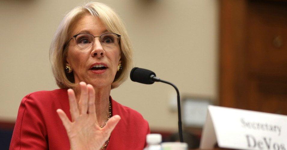 devos 1 1608133214 - School Privatization Zealot Betsy DeVos Reportedly Urging Career Education Staff to Obstruct Biden Agenda