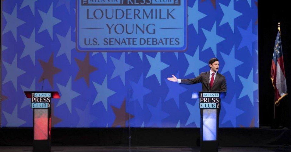 ossoff 0 1607355898 - 'Perdue Pleaded the Fifth': Ossoff Debates Empty Podium as GOP Senator No-Shows Amid Scrutiny Over Stock Trades