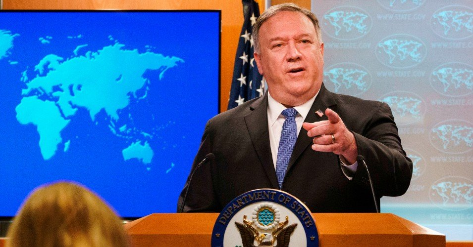 pompeo iran 0 1608897269 - 'Unhinged, Lame-Duck President Wants to Start a War': Warnings as Trump Blames Iran for Rocket Attack