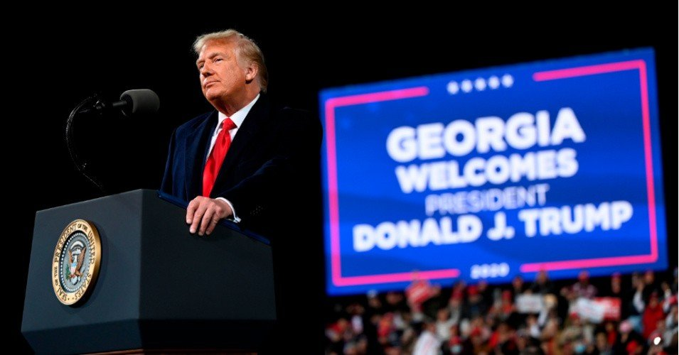 trump georgia 1607269864 - Hours After Brian Kemp Declined to Overturn Georgia's Election Results, Trump Slammed GOP Governor at Lie-Filled Rally